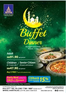 Ramadan Flyer for Chakri Palace, KLCC