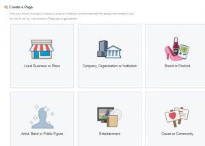 Facebook Page Creation