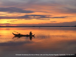 Sunrise at Baray Lake